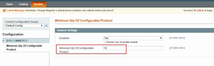 5e11c6d02bef5 1. Set minimum quantity for all configurable product¶
